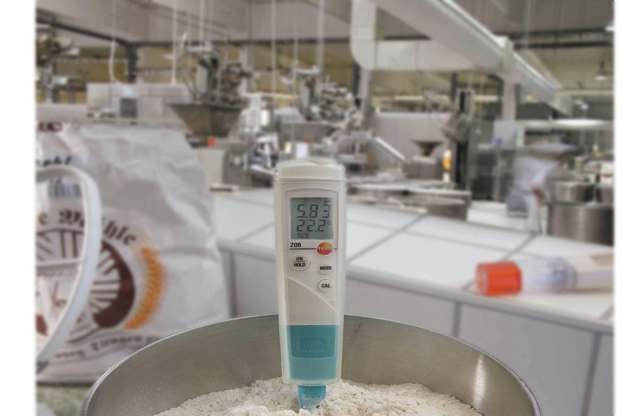 Измерение pH для обеспечения качества в пищевом секторе с помощью testo 206