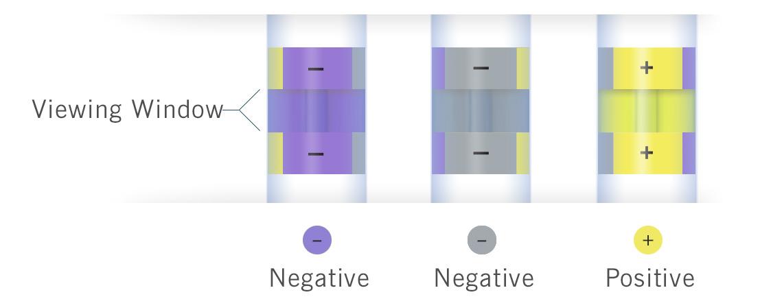 Тест Insite Salmonella - изменение цвета индикатора