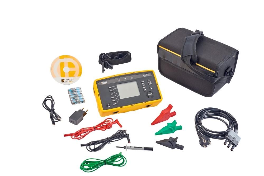 Комплект поставки тестера электроустановок C.A 6133
