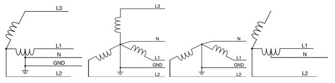 Диаграммы подключения PEL 103